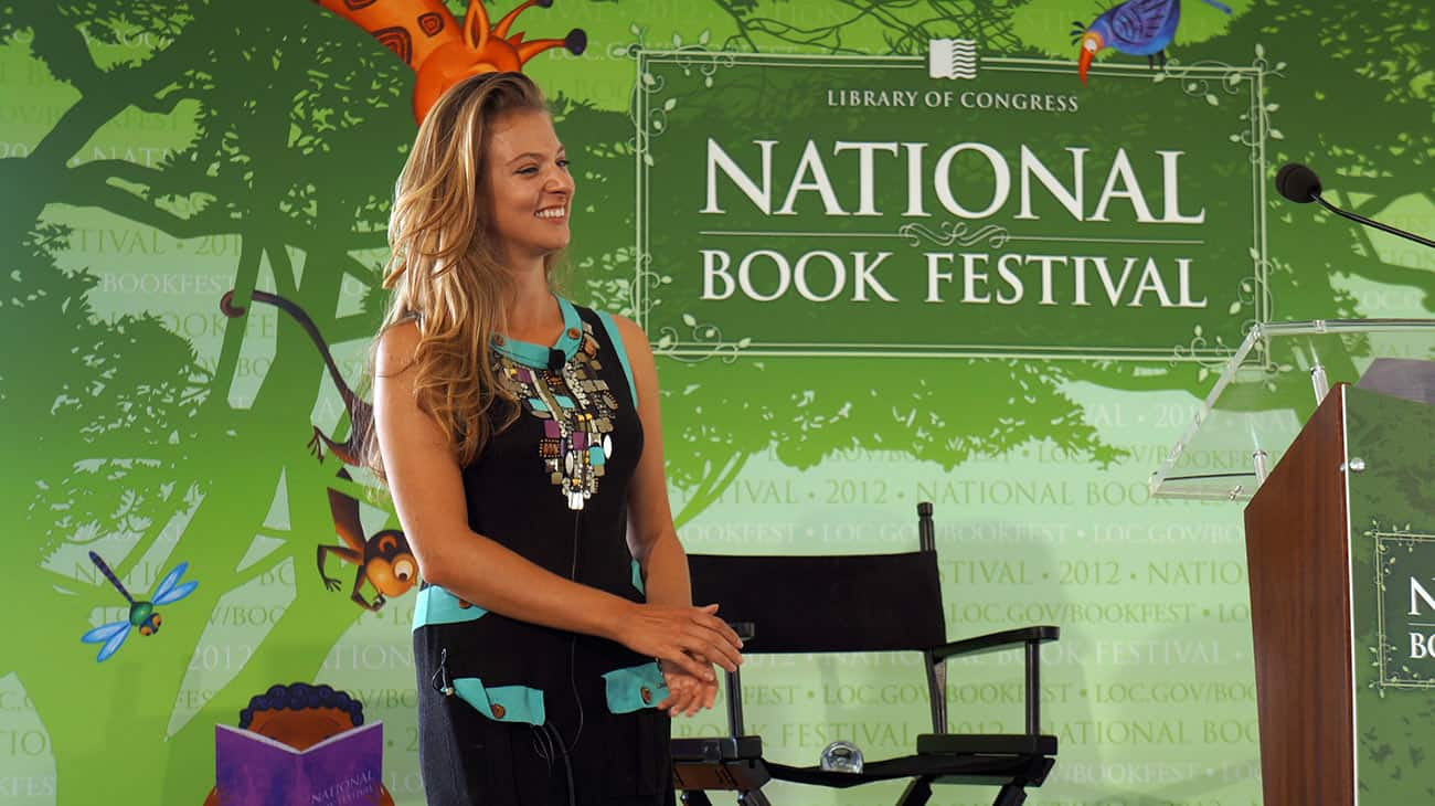 Francesca Serritella at the National Book Festival